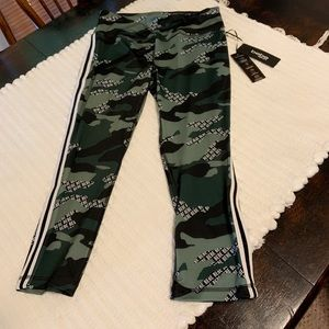 Sport lycra with camouflage print